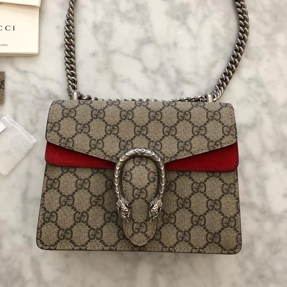 70b4c0a7a917 Gucci Bags | Dionysus Supreme Gg Bag Red Mini | Poshmark